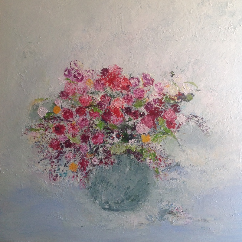 Summer Roses / 120 x 120cm / Oil on Canvas