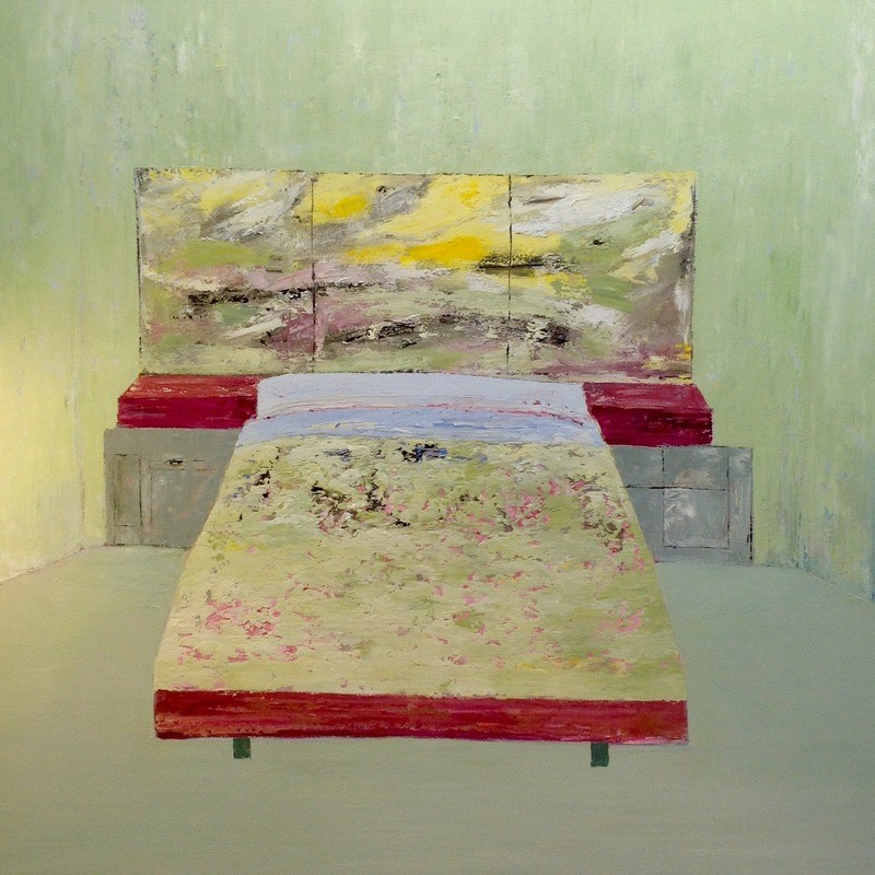 Bed / 120 x 120cm / Oil on Canvas
