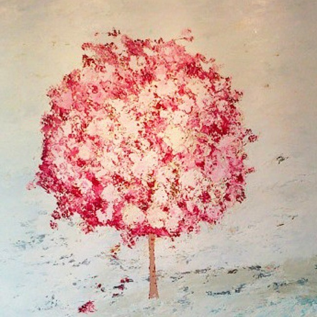 Pom Pom Tree / 100 x 100cm / Oil on Canvas
